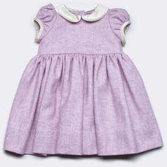 Baby CZ | tweed Rachel dress, sparkling/creme, baby