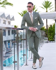 Light green suiting