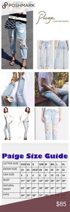 """Paige Destructed Jimmy Jimmy Boyfriend Jeans. NWT. Paige Sawyer Destructed Jimmy Jimmy Boyfriend Skinny, 100% cotton, machine washable, 30"""" waist, 8.25"""" front rise, 13"""" back rise, 30"""" inseam, 12.5"""" leg opening all around, boyfriend skinny jeans shredded and distressed for an effortless lived-in look, narrows at the knee, silver-tone hardware, five pockets, belt loops, zip fly button closure, measurements are approx.  NO TRADES Paige Jeans Jeans Boyfriend"""