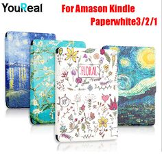 Painted PU Leather Cover Case For Amazon Kindle PaperWhite 1 2 3 E-books Coque Cover Case For Kindle Paperwhite+HD screen film Price: USD 12.98 | United States