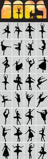 Ballerina silhouettes preview. thumbnail