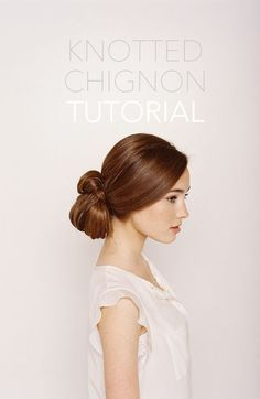 knotted chignon tutorial via oncewed.com