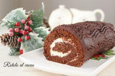 Rotolo al cacao: un dolce arrotolato goloso ricco di crema e cioccolato.