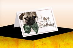 Birthday Card Download 5.5 x 4.25 by VirginiaCharm on Etsy, $3.00
