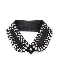 {Noir Collar} JewelMint - pearls + rhinestones on black = gothic glamour