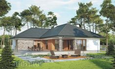 projekt domu M176b Nowe możliwości - wariant II - Murator projekty Gazebo, Outdoor Structures, House, Kiosk, Home, Pavilion, Cabana, Homes, Houses