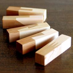 Chopstick rest made ​​with traditional methods of Japanese woodworking