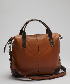 Nino Bossi Handbags  -  Cognac Hampton Crossbody Bag - Zulily