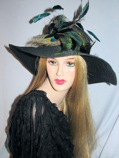 Wide Brim Peacock Hat