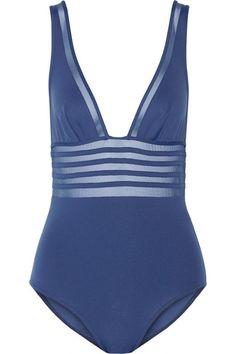 La Perlamesh-paneled swimsuit