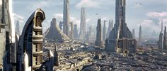 The cityscape of Coruscant in 19 BBY.