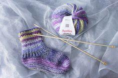 #RoseChiffon - Tricoter des chaussettes (tuto débutants) - #RoseChiffon