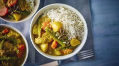 This coconut-rich, slow-cooked curry is a doddle to prepare for the family and full of kid-friendly vegetables.  Equipment and preparation: For this recipe, you will need a 4.5 litre/8 pint slow-cooker.