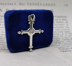 Sterling Silver Antiqued Cross Pendant Solid 35 mm 52 mm Themed Pendants /& Charms Jewelry