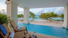 Zemi Beach Luxury Caribbean Residences Plunge Pool with a View
