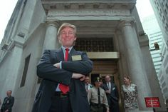 Mr. Trump, outside the New York Stock Exchange, after he took the Trump Plaza casino in Atlantic City public in 1995.