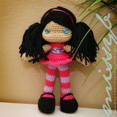 Hey, I found this really awesome Etsy listing at https://www.etsy.com/listing/162497583/cute-crochet-doll-pattern-hannah-doll