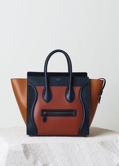 celine mini luggage handbag in burnt orange