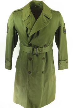 a0d9d45107a Vintage 50s M-1950A Field Overcoat S Short Removable Wool Liner Korea War  Era