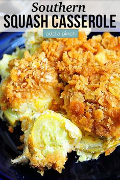 Southern Squash Casserole - Squash Casserole is an essential dish for special family meals and holidays. Topped with a buttery cracker topping, this squash casserole is an all-time favorite! // addapinch.com #squashcasserole #squash #casserole #southern #addapinch Easy Squash Casserole, Southern Squash Casserole, Vegetable Casserole, Easy Casserole Recipes, Veg All Casserole, Squash Caserole, Pumpkin Casserole, Hamburger Casserole, Chicken Casserole