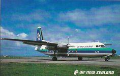 Air New Zealand Fokker-27 Postcard