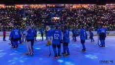 Hokejový zápas medzi HC Slovan Bratislava a HC Avtomobilist Yekaterinburg