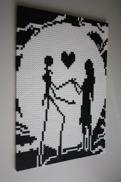 Nightmare Before Christmas Wall Hanger Hama Beads by Picksalls