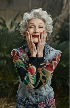 Model Alicia Borrás, 70.