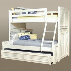American Woodcrafters 6510-TFBNK Cottage Traditions Twin over Full Bunk Bed