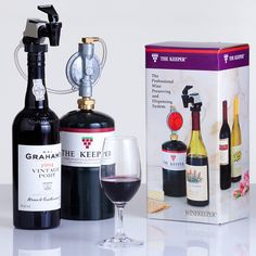 WineKeeper Basic Nitrogen Keeper (750ml). An affordable and easily portable dispensing system, The Keeper uses a pressurized blanket of inert nitrogen to protect wine in standard 750ml bottles from oxidation and spoiling.