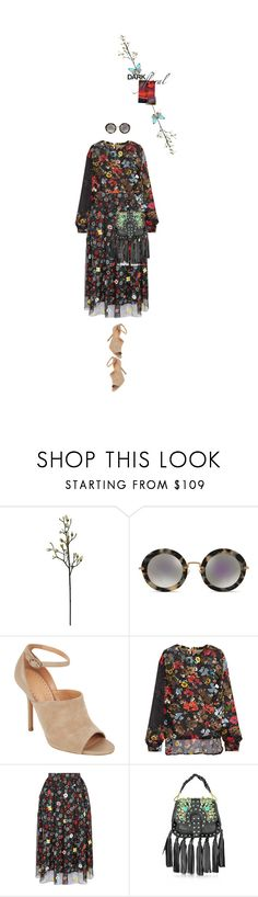 """""""Untitled #1647"""" by maja-z-94 ❤ liked on Polyvore featuring Miu Miu, ALEXA WAGNER, Preen, Holly Fulton and GEDEBE"""