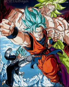 goku,vegeta y broly by WallpapersDBS on DeviantArt Poster Marvel, Posters Batman, Dragon Ball Z, Dragon Ball Image, Dragon Z, Broly Ssj4, Akira, Broly Movie, Homemade Costumes