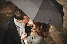 hide the kiss Couple Photography, Engagement Photography, Photography Poses, Wedding Photography, Engagement Couple, Engagement Pictures, Engagement Shoots, Rainy Engagement Photos, Couple In Love