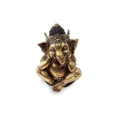 NOVICA Hindu Art Ganesha Antiqued Bronze Statuette Crafted in Bali (€42) ❤ liked on Polyvore featuring home, home decor, clothing & accessories, metallic, sculpture, hand sculpture, elephant sculpture, elephant figure, antique bronze figurines and novica