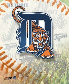 "Here stands the ""new"" Detroit Tigers baseball team logo. One of the fine attributes of ""Fall in the D"""