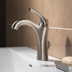 Delta Addison Single Hole Bathroom Faucet With Diamond Seal Technology Metal Pop Up Drain Lifetime And Finish Warranty