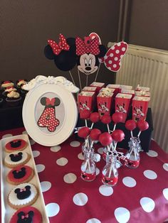 Minnie Mouse birthday party ideas! See more party ideas at CatchMyParty.com!