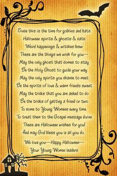 halloween poem printable for primary - Cute Halloween Poem