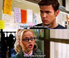 """""""Like it's hard?"""" Legally Blonde - Movie Quotes #legallyblonde #legallyblondequotes"""