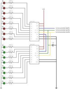 Currently working on understanding shift registers and traing to display binary number from 65535 to 0 on a 16 LED's. Arduino Led, Arduino Board, Hobby Electronics, Electronics Projects, Simple Arduino Projects, Photography Set Up, Electronic Circuit Projects, Electronic Schematics, Circuit Design
