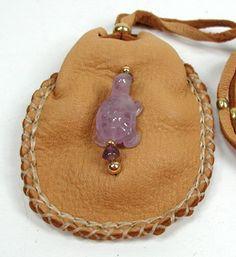 Mother Earth Turtle Spirit Native American Apache Indian Buckskin Medicine Bag