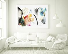 Modern wall art, Abstract mixed media painting, Large minimalist art, modern abstract art, original watercolor art, abstract wall art by VictoriAtelier on Etsy