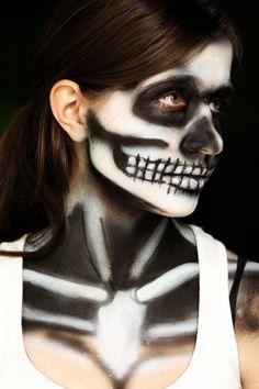 skeleton makeup 2 by ~Realistic-Unicorn on deviantART