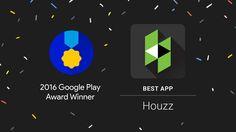 Houzz Wins Google Play App Award! Download today!