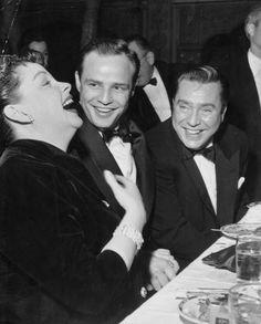 Judy Garland, Marlon Brando and Edmund O'Brien