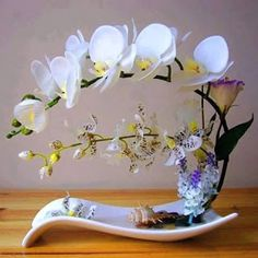 orchid flower arrangements Picture - More Detailed Picture about High simulation handmade ikebana artificial orchid flowers arrangements real touch latex orchid floriculture pot culture suits Picture in Artificial & Dried Flowers from Daily Ornament Items Ikebana Arrangements, Orchid Flower Arrangements, Ikebana Flower Arrangement, Artificial Flower Arrangements, Flower Vases, Arreglos Ikebana, Artificial Orchids, Japanese Flowers, Container Flowers
