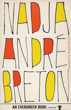 Nadja by Andre Breton. Grove Press, 1960. Cover design by Roy Kuhlman. www.roykuhlman.com
