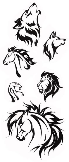 Simple Tribal Animal Designs Thehellcow: