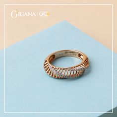 Buy Ribbed beauty diamond ring from GRT Oriana Online Hallmarked and certified along with trust of GRT Jewellers. Gold Jewelry Simple, Gold Rings Jewelry, Gold Jewellery Design, Diamond Jewelry, Glass Jewelry, Latest Gold Ring Designs, Indian Jewelry Earrings, Unique Diamond Rings, Work Wear