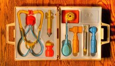 Doctor kit.  I totally had this.  I think it's funny how it included a needle... don't think they come like that anymore.